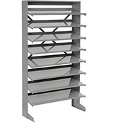 Floor Pick Rack Without Bins, 33x12x61