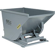 "Heavy-Duty Self-Dumping Hoppers - 52-1/2""Wx37-3/4""Dx32-1/2""H - Gray"