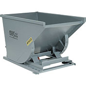Heavy-Duty Self-Dumping Hoppers - 3/4 Cu Yd - Gray