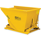 Wright 2 Cu Yd Yellow HD Self Dumping Forklift Hopper with Heavy Gauge Base, Yellow