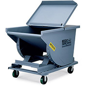 "MCCULLOUGH WRIGHT Extra Heavy-Duty Hopper - 3/16"" Sides, 3/4"" Base - 4-Cu. Yd. Cap. - Gray"