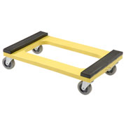 "Plastic Dolly with Rubber Padded Deck, 4"" Casters"