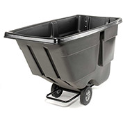 "Rubbermaid 9T18 Light Duty 1 Cu. Yd. Black Tilt Truck, 72-1/4""L x 33-1/2""W x 43-3/4""H"