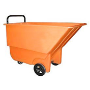Bayhead 1/3 Cubic Yard Tilt Truck, Light Duty, 275 Lb. Capacity, Orange