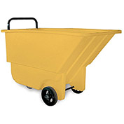 "BAYHEAD Haul-All Tilt Trucks - 26""Wx48""Dx30""H - 275-Lb. Capacity - Yellow"