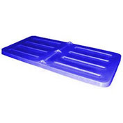 Bayhead Lid for 1/3 Cubic Yard Tilt Truck, Blue