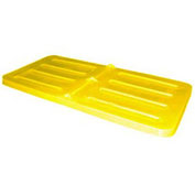 Bayhead Lid for 1/3 Cubic Yard Tilt Truck, Yellow