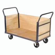 Euro Style Truck - 3 Wood Sides & Deck, 48 x 24, 2000 Lb. Capacity