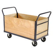 Euro Style Truck - 4 Wood Sides & Deck, 60 x 30, 2000 Lb. Capacity