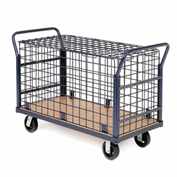 Euro Style Wire Security Deck Truck, 60 x 30, 2000 Lb. Capacity