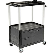 Rubbermaid Audio Visual Cart 33 x 19 x 42 W/ Locking Cabinet