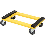 "Plastic Dolly with Rubber Padded Deck, 5"" Casters"