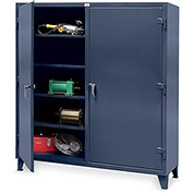 "STRONG HOLD Ultra-Capacity Double-Shift Cabinet - 36x24x78"" - Dark gray"