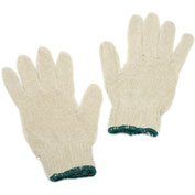 Non-Grip String Gloves, White, M/L, 12 Pairs