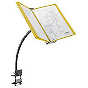 """Hubbell Flexible Document Stand With 6-Way Clamp Mount, 18""""H, Yellow"""