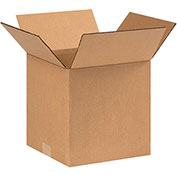 "9x9x9"" Cardboard Corrugated Boxes, 200 lb. Test/ECT-32 Kraft, 25 Pack - Pkg Qty 25"