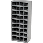 Durham Steel Storage Parts Bin Cabinet, Open Front, 36 Compartments