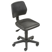 Industrial Polyurethane Chair, Black