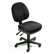 Task Chair, Fabric Upholstery, Black