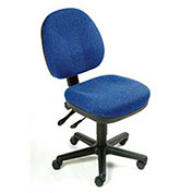 Task Chair, Fabric Upholstery, Blue