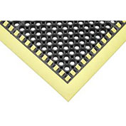 """Apache Mills Drainage Mat, Grease Resistant-Border On Four Sides, 40 x 40"""", Black"""