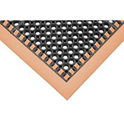 """Hi-Visibility Safety Mat with Borders on 4 Sides, 40x124x1/8"""", Orange"""