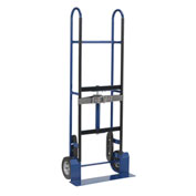 "Steel Appliance Hand Truck, 8"" Mold-On Rubber Wheels"