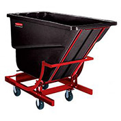 Rubbermaid 1 Cu. Yd. Self Dumping Hopper with Caster Base