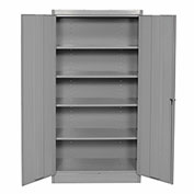 Storage Cabinet, Steel, 36x18x72, Gray