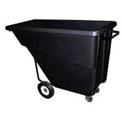 Bayhead 5/8 Cubic Yard Tilt Truck, Medium Duty, 1000 Lb. Capacity, Black