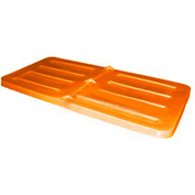 Bayhead Lid for 2.2 Cubic Yard Tilt Truck, Orange