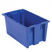 Stack And Nest Shipping Container No Lid, 18x11x6, Blue - Pkg Qty 6