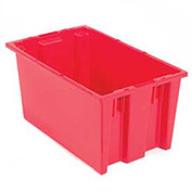 Stack And Nest Shipping Container No Lid 19-1/2x13-1/2x8, Red - Pkg Qty 6