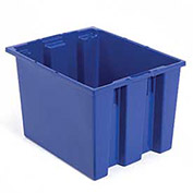 Stack And Nest Shipping Container No Lid, 23-1/2x15-1/2x12, Blue - Pkg Qty 3