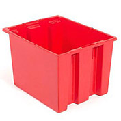 Stack And Nest Shipping Container No Lid 23-1/2x15-1/2x12, Red - Pkg Qty 3