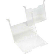 "Quantum SNH010 3"" x 5"" Clear Plastic Label Holder, 6/Pk"