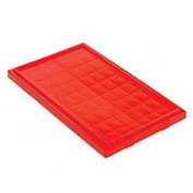 Lid for Stack And Nest Shipping Containers SNT180, SNT185, Red - Pkg Qty 6