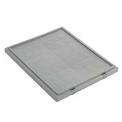 Lid for Stack And Nest Shipping Containers SNT225, SNT230, Gray - Pkg Qty 6