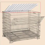 Lid ONLY - 32 X 40 Folding Wire Container Accessory Lid-Hinged