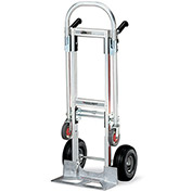 "MAGLINER Gemini Convertible Aluminum Trucks - 10"" Full-Pneumatic Tires - 51"" Hand Truck Height"