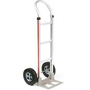 Magliner Aluminum Hand Truck with Curved Handle, Semi-Pneumatic Wheels