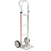 Magliner Aluminum Hand Truck with Loop Handle, Mold-On Rubber Wheels