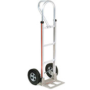 Magliner Aluminum Hand Truck with Loop Handle, Semi-Pneumatic Wheels