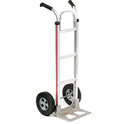Magliner Aluminum Hand Truck with Double Handle, Semi-Pneumatic Wheels