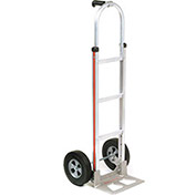 Magliner Aluminum Hand Truck with Pin Handle, Semi-Pneumatic Wheels
