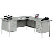 "L-Desk with Right Return, Gray/Gray Top, 72"" x 66"""