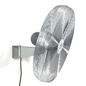 "TPI 24"" Wall Mount Fan Non Oscillating Gray 1/2 HP 8,600 CFM 1 PH Totally Enclosed Motor 2 Speed"