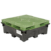 Spill Containment Sump with Plastic Drum Pallet
