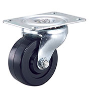 "Light Duty Swivel Plate Caster 3"" Rubber Wheel"