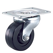 "Light Duty Swivel Plate Caster 4"" Rubber Wheel"